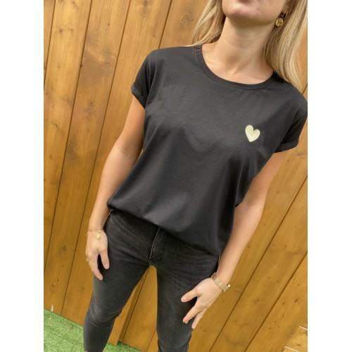 T-Shirt Noemie Coeur Noir