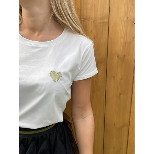 T-Shirt Noemie Blanc Coeur...