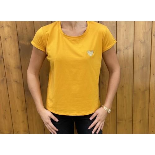 T-Shirt Noemie Coeur Moutarde