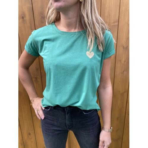 T-Shirt Noemie Coeur Vert...