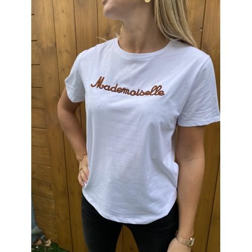T-Shirt Mademoiselle Marron